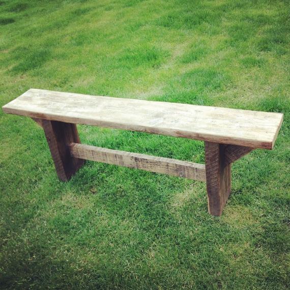 Wood Scaffold Boards : Rustic solid wood scaffolding board bench
