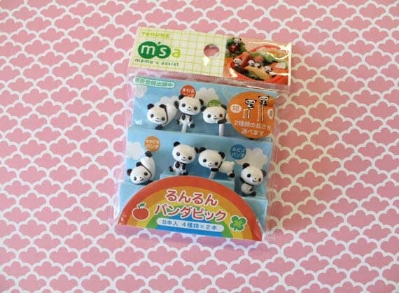panda plastic food picks