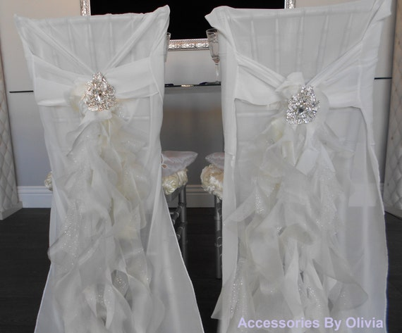 Bride And Groom Ruffle Chair Covers