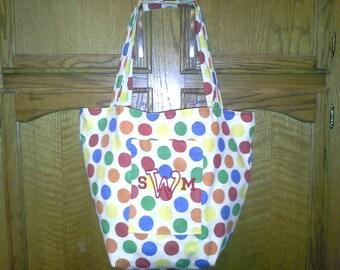 Beach/pool monogrammed tote bag.