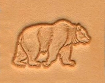 Grizzly Bear Leather Stamp Tool