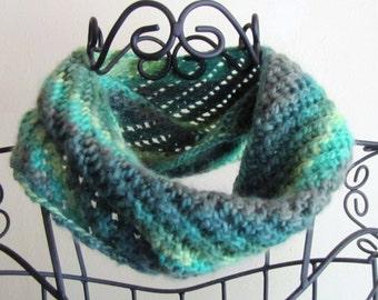 Soft Merino Wool Knit Cowl Scarf