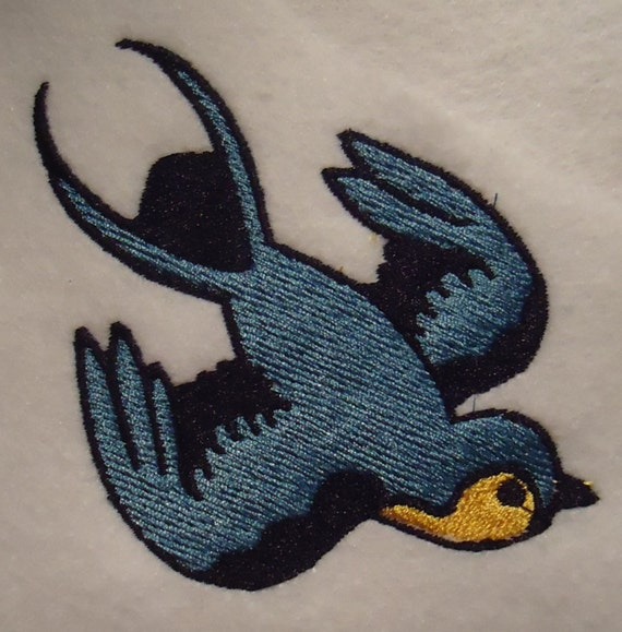 Tattoo Flash Style Bird Embroidery Design File