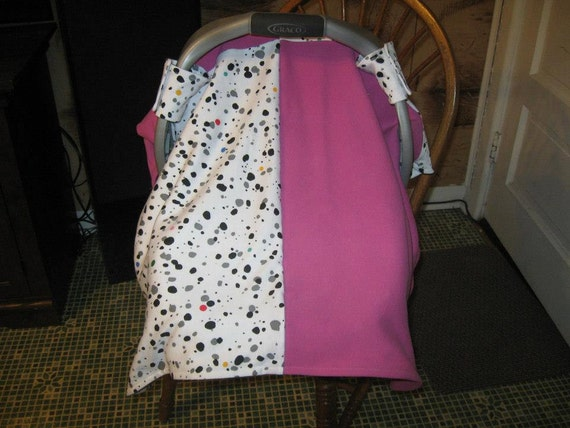 Baby Girl Infant Car Seats: Car Seat Canopy Set Baby Girl Unique Hand Made