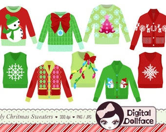 Ugly Christmas Sweater Clipart Tacky Holiday Party Invite Clip Art