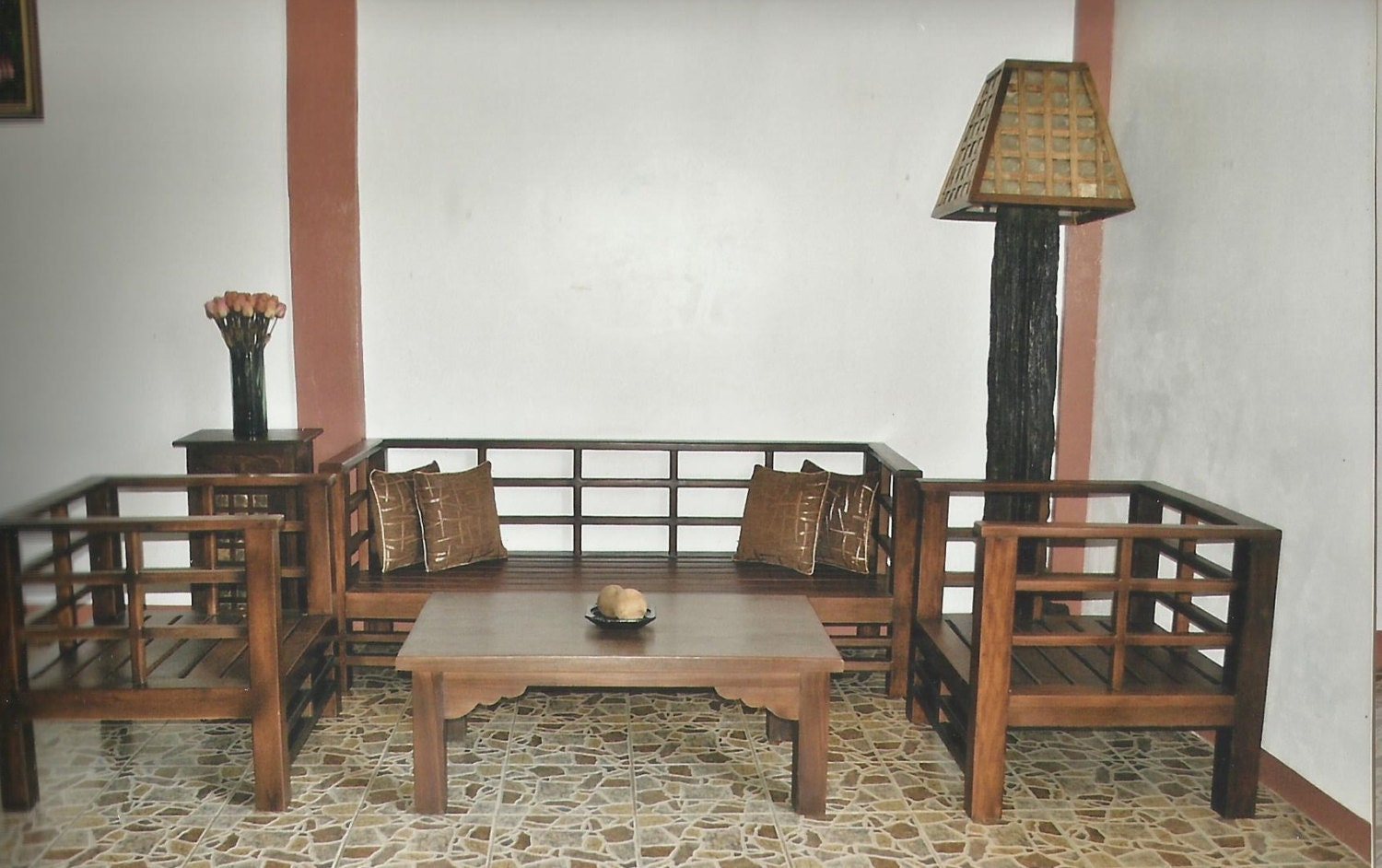 Salvaged Old Wood Japanese Style Sala Set By Toykalapawmi