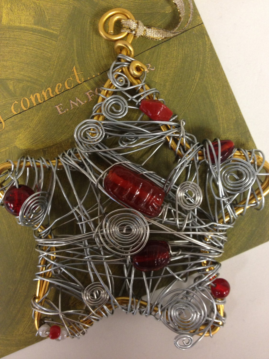 Hand made wire wrapped ornament