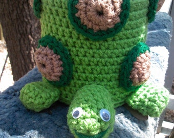crochet toilet paper cover,turtle,animal