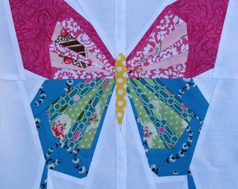 Paper pieced 12 Inch Butterfly Pattern