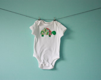 Turtle Applique Onesie