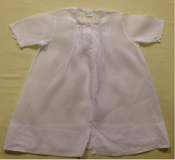 c131f34aaa85 Vintage Feltman Brothers Baby Dress 3 Months White Lace Reborn