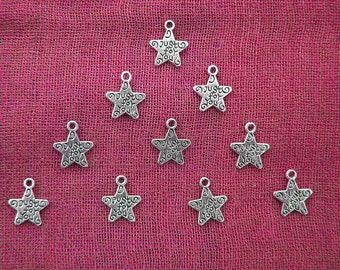 50 Silver Just For You Charms Bulk Pack