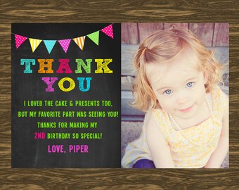 Chalkboard Photo Thank You Card
