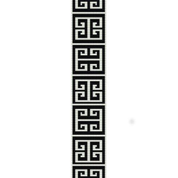 Instant Download Beading Pattern Peyote Stitch Bracelet Greek