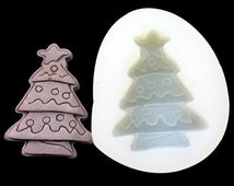 Christmas Tree Chocolate Mold Flexible Silicone Cake Fondant Mould Candle Icing Chocolate Fimo Resin Crafts C0092 DIY Mould in Handmade
