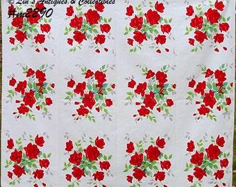 "Wilendur ""Royal Rose"" Vintage Tablecloth (Inventory #M2290)"