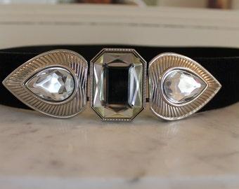 Vintage bejeweled belt