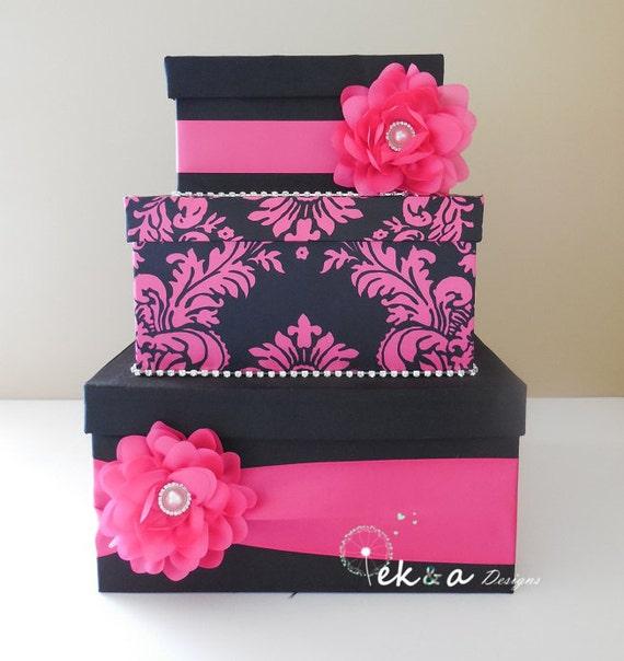 Wedding card box / money box / card holder / gift card box / 3 Tier ...