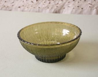 Vintage Green Glass Dish 1975