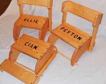Personalized Step Stool That Folds into a Chair