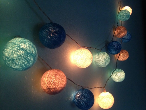 Cotton ball lights for home decorparty by icandylighting - Indoor string lights ideas ...