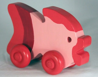 """Wooden Toy """"Fishy Fish"""" Child Safe, Handcrafted from Reclaimed Wood, Eco-friendly by GiggleTree Toys"""