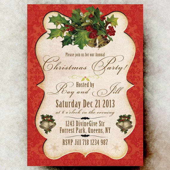 Christmas Party Invitation - Vintage Classic