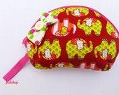 Cotton Wallet ,Coin Purse, purse, cosmetic bag, bag, Thailand, Women, Elephant