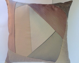 Throw pillow cushion crazy patch