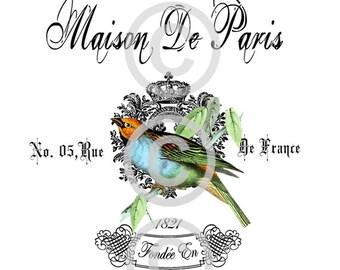 Digital Download, French Digital, ACEO, Digital Collage, French Digital Gift Tags, French Hotel, Digital Printable, Vintage Digital