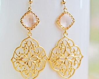 Peach Oriental Earrings