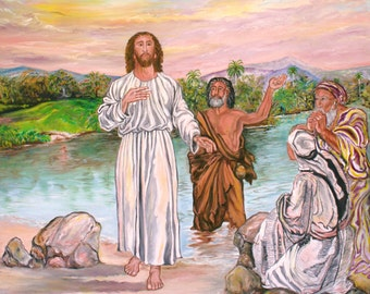 "The Baptism of Jesus Christ, Size : 40"" x 50"""