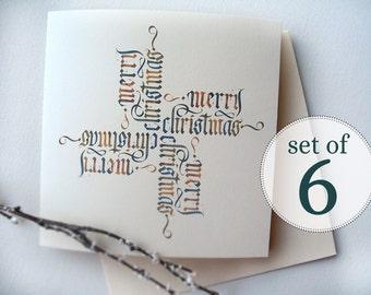 kalligraphie weihnachtskarten frohe weihnachten von otheralice. Black Bedroom Furniture Sets. Home Design Ideas