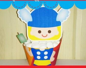 Printable Digital PDF File - Cupcake Wrappers Superhero Baby Boy T