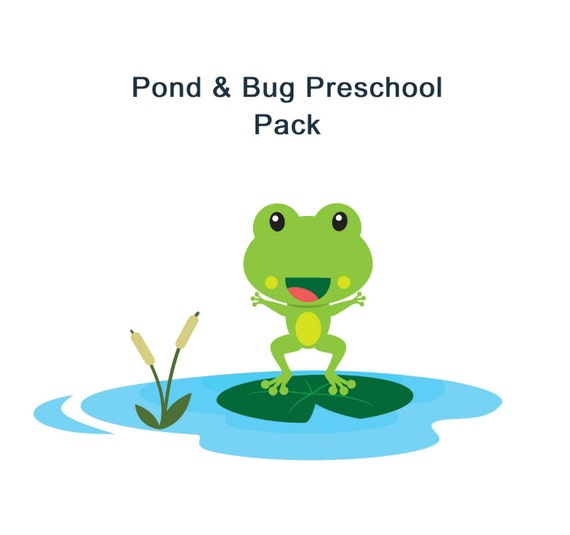 Printable Lesson Plan - Homeschool -  Preschool Pond Theme Pack - Learning Pack - School Printables - 8 Pages