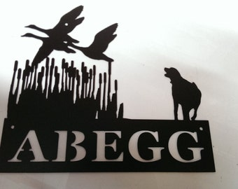Powder Coated Custom Duck/Goose Hunting Scene Metal Sign Wall Hanging