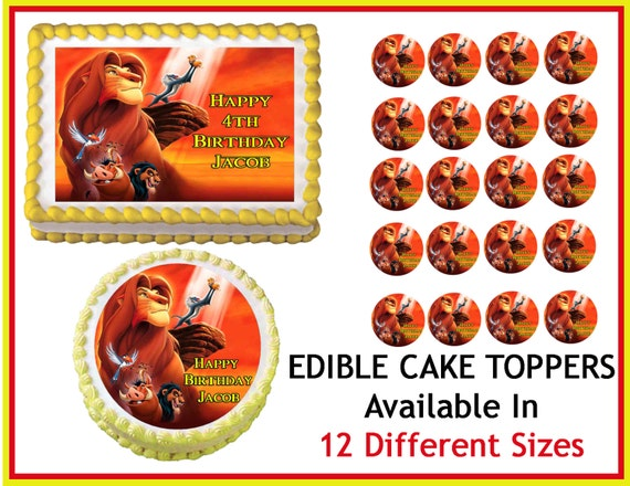 Edible Cake Images Lion King : LION KING SIMBA Edible Cake Image Cupcake by ...