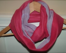 Kids Infinity Scarf Two Toned (solid colors) ** More color combinations available **