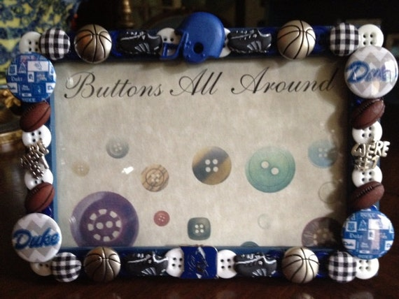 Duke University button picture frame