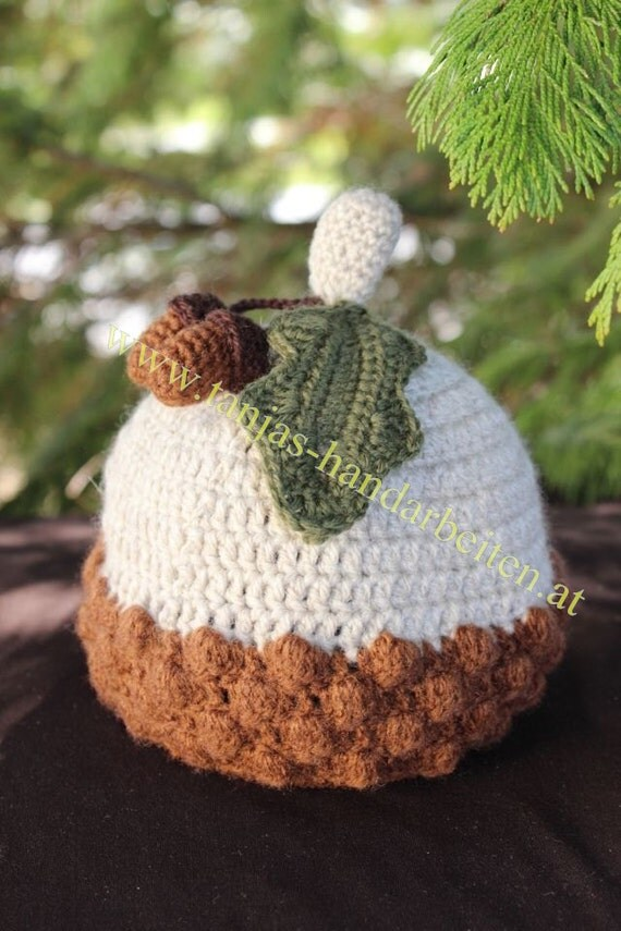 Knitting Pattern For Acorn Hat : Acorn Baby Hat Crochet Pattern by PrincessesParadise on Etsy