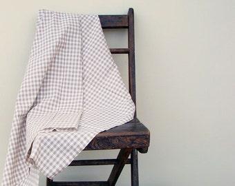Light Brown Gingham Fabric - Plaid Fabric - Check Fabric -  1 yard