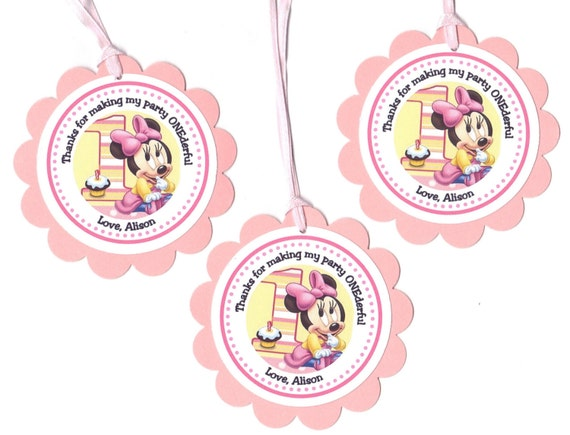 Items similar to personalized baby minnie mouse first for Baby minnie decoration