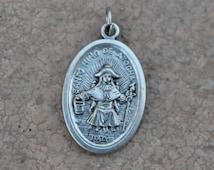 Santo Nino De Atocha Patron Saint Medal Silver Plated MPS008