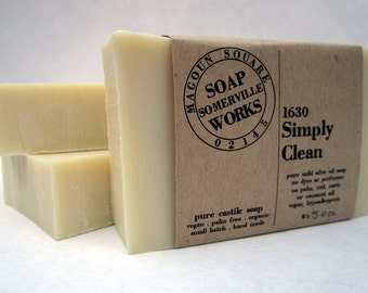 1630 Simply Clean - pure olive oil castile soap (vegan . organic . palm oil free)