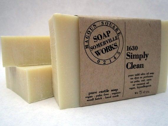 1630 Simply Clean - pure olive oil castile soap (vegan . organic . palm oil free)