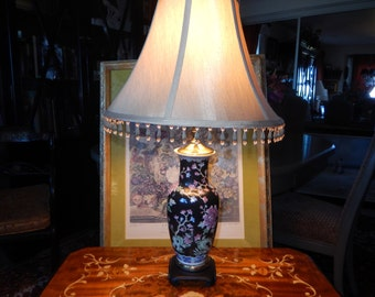 CHINESE BLACK Floral LAMP