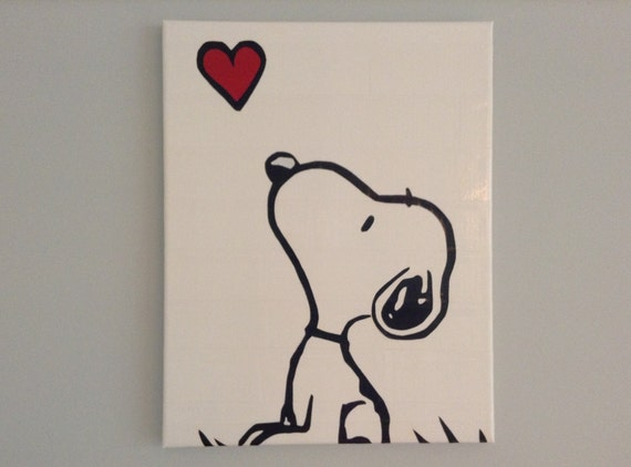 Items similar to snoopy duct tape painting 11 x 14 made for Cool easy things to paint