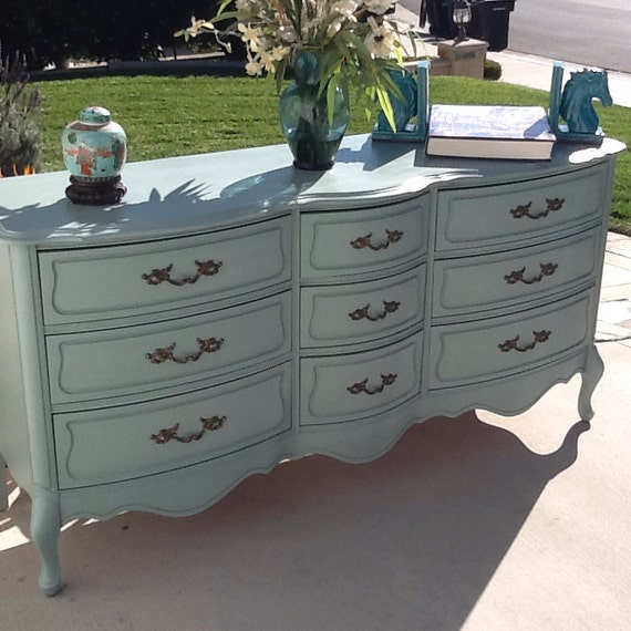 Dresser French Provincial Country French Vintage Shabby Chic