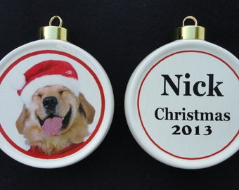 Custom Pet Ornament *Personalized* Christmas, Holiday, Family, Friends, Memorial, Cat, Dog, Firefighter, Paramedic, EMT