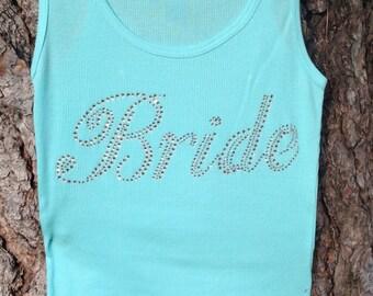 Bride Tank, Bridal Party Tank, Maid of Honor Tank, Bridesmaid Gift.